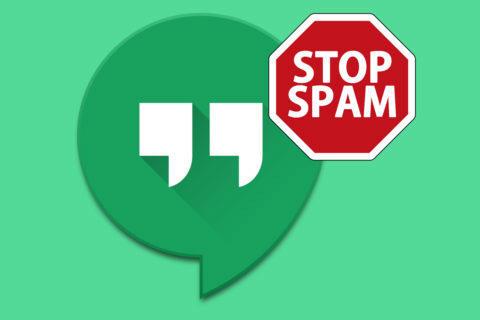 hangouts spam jak nahlásit a zablokovat uživatele