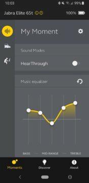Jabra Sound+ ekvalizér