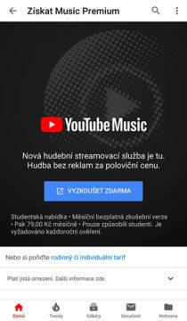 jak aktivovat studentké předplatné youtube