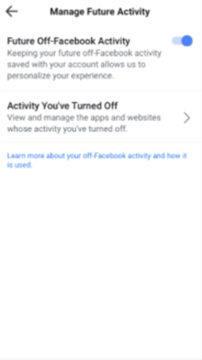 jak vypnout aktivity facebook