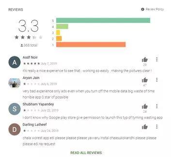Kontrolujte hodnocení aplikací!