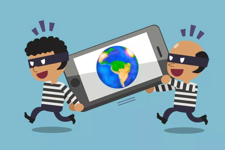 mexiko city krádež telefonů