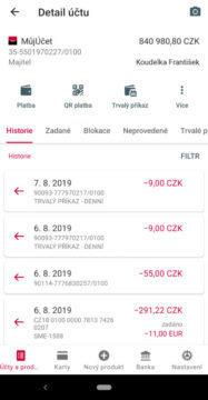 mobilní aplikace komerční banka