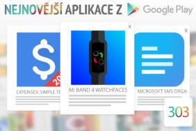 Nejnovější aplikace z Google Play #303: ciferníky pro Mi Band 4