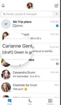 rozepsaná zpráva skype