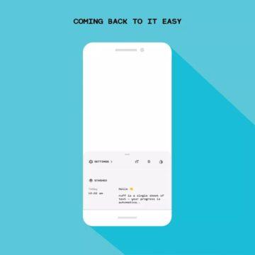 ruff - mobilní poznámkový blok