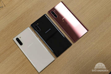 Samsung Galaxy Note10 design zadni strana