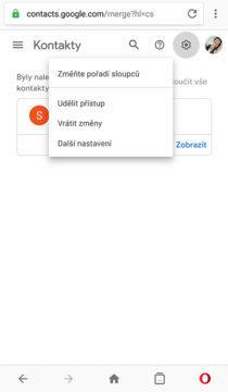 smazané kontakty google gmail