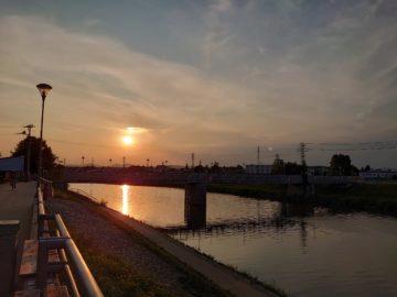 Sony Xperia 1 západ slunce