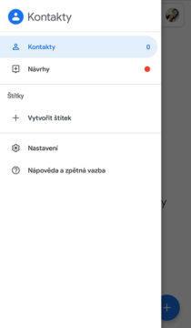štítky kontakty google