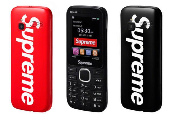 supreme telefon blu