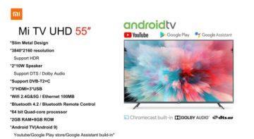Televizor Xiaomi 55 specs