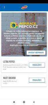 Úvodní stránka nové aplikace PEPCO