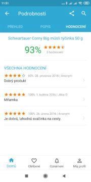 Uživatelské recenze na Heureka