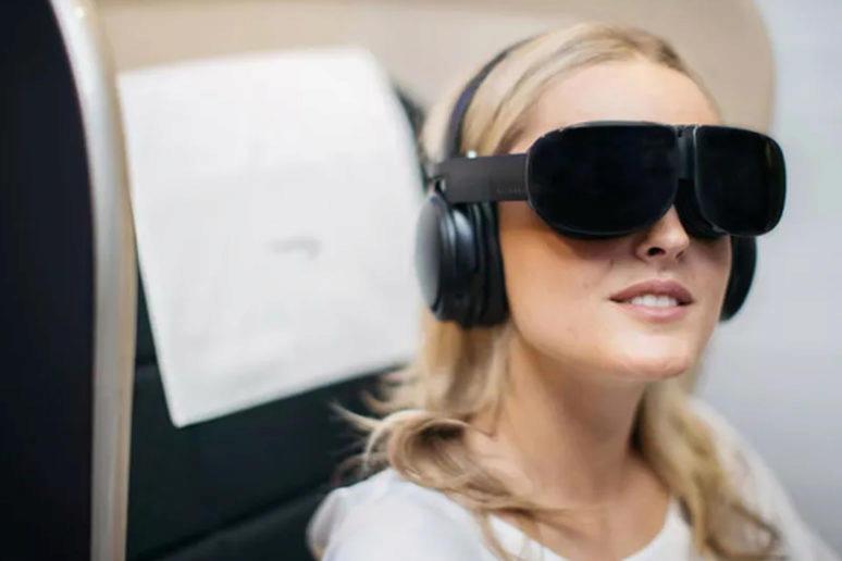 vr brýle viruální realita letadlo