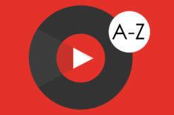 youtube music řazení hudby