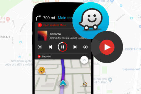 youtube music waze