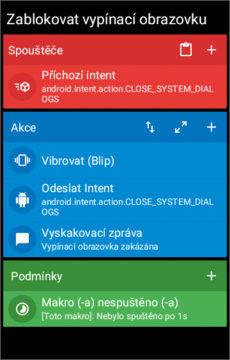 Zablokovat vypínací obrazovku