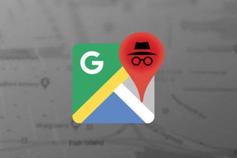 google mapy anonymní režim