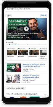 google vyhledávač úseky videa