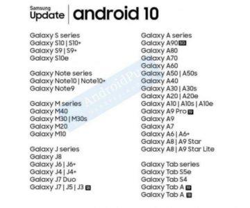 android 10 samsung galaxy