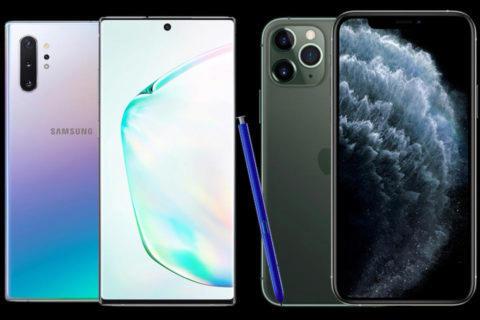 iphone 11 vs galaxy note 10