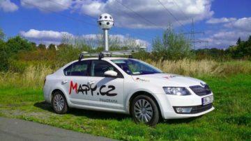 mapy.cz snímovací auto