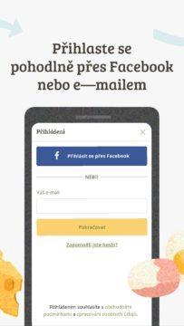 Přihlaste se Facebookem či e-mailem