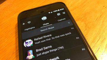 skype android tmavý režim