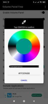 Výběr barvy jednotlivých částí