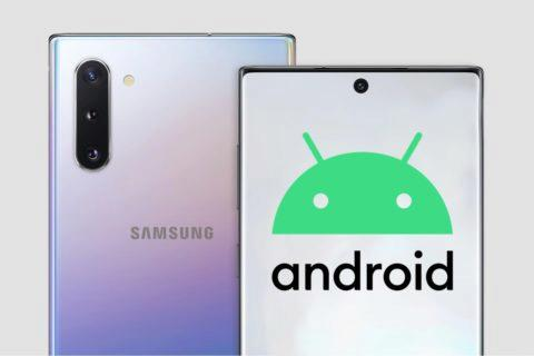 Android 10 pro Samsung Note10