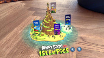 angry birds ar isle of pigs