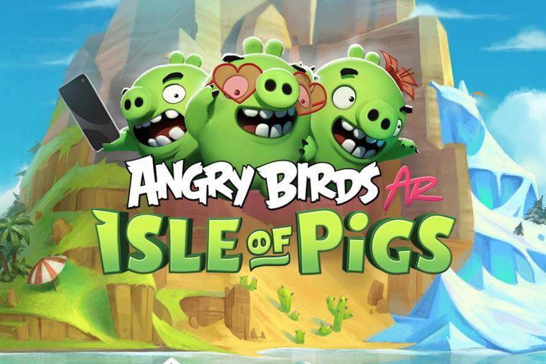 angry birds isle of pigs ar rozšířená realita