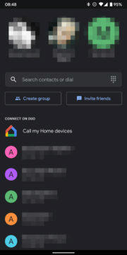 google duo dark mode