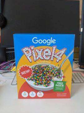 google pixel 4 balení cereálie