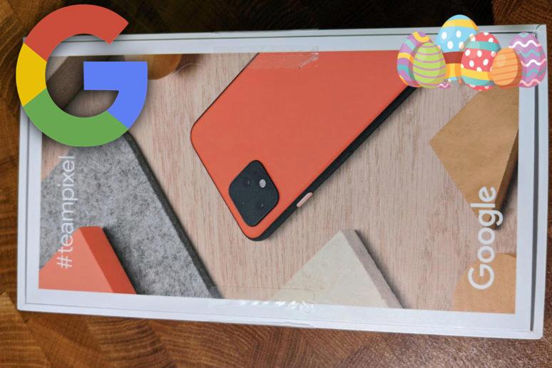 google pixel 4 krabička easter egg reklama