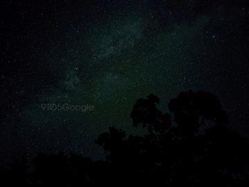 google pixel 4 noční obloha