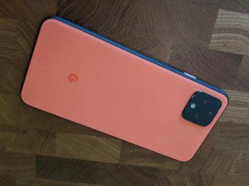 google pixel 4 oranžová barva