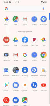 google pixel 4 prostředí