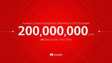 Huawei milník 200 milionů 2019