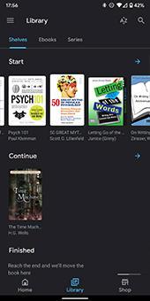 knihy google play tmavý režim