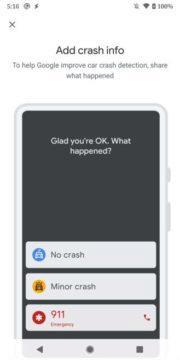google pixely rozpoznání autonehody