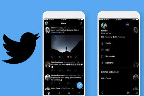 twitter lights out tmavý režim