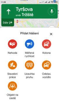 události v google mapách moznosti