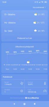 Xiaomi Mi 9T Pro počasí