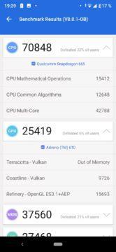 xiaomi mi a3 benchmark test výkon