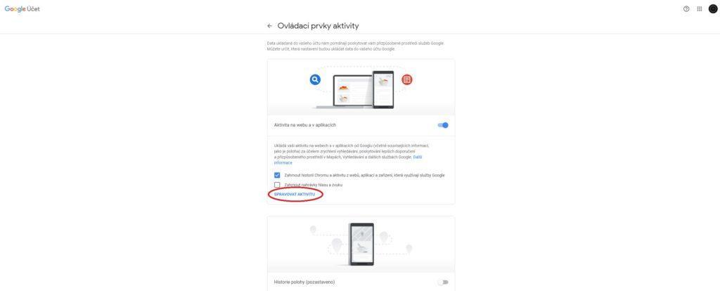 google data automatické mazání