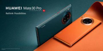 Huawei Mate 30 Pro Vegan Leather Orange Vegan Leather Green