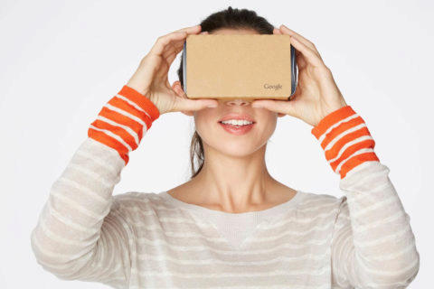 papírové brýle google cardboard