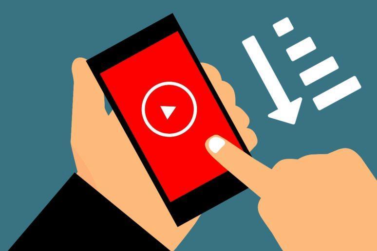řazení videí mobilní aplikace YouTube